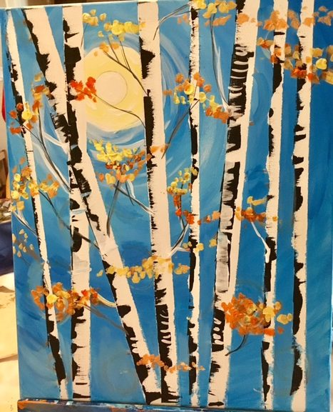 How To Paint Birch Trees Step By Step Painting Tutorial