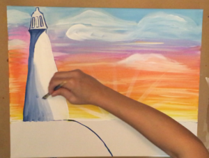 how to paint a lighthouse