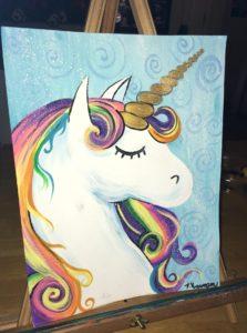 How To Paint A Unicorn Tracie S Acrylic Canvas Tutorials