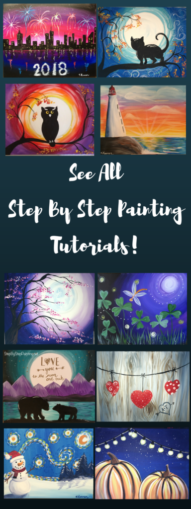 Step By Step Painting - Tracie's Acrylic Canvas Tutorials