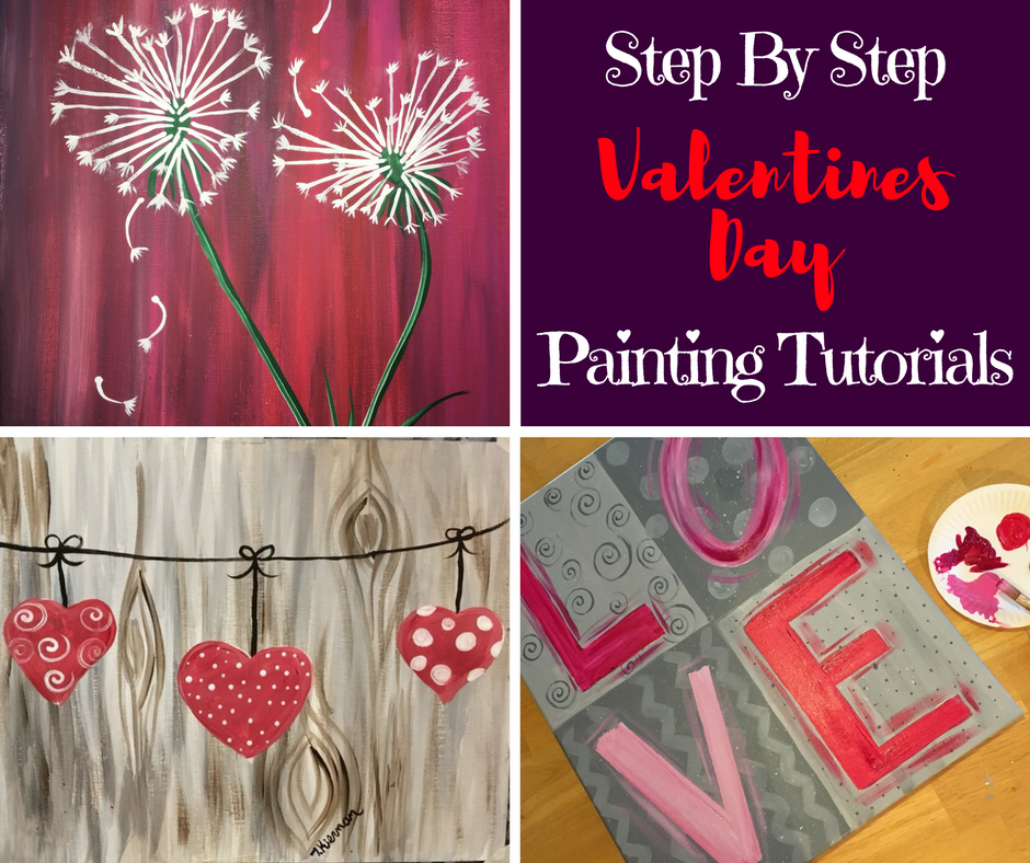 Valentines day step by step painting tracie 39 s acrylic for Step by step painting tutorial