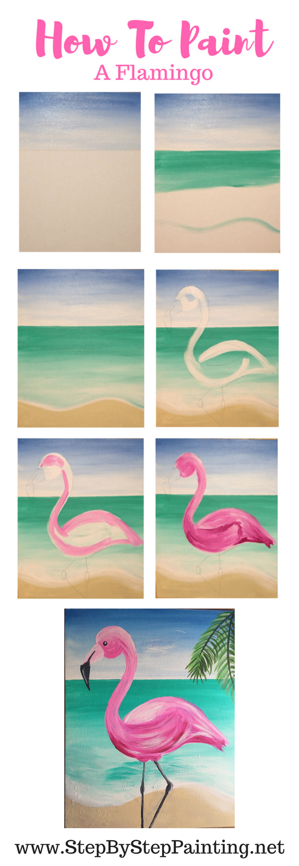 Step By Step Decorating Living Room: How To Paint A Flamingo