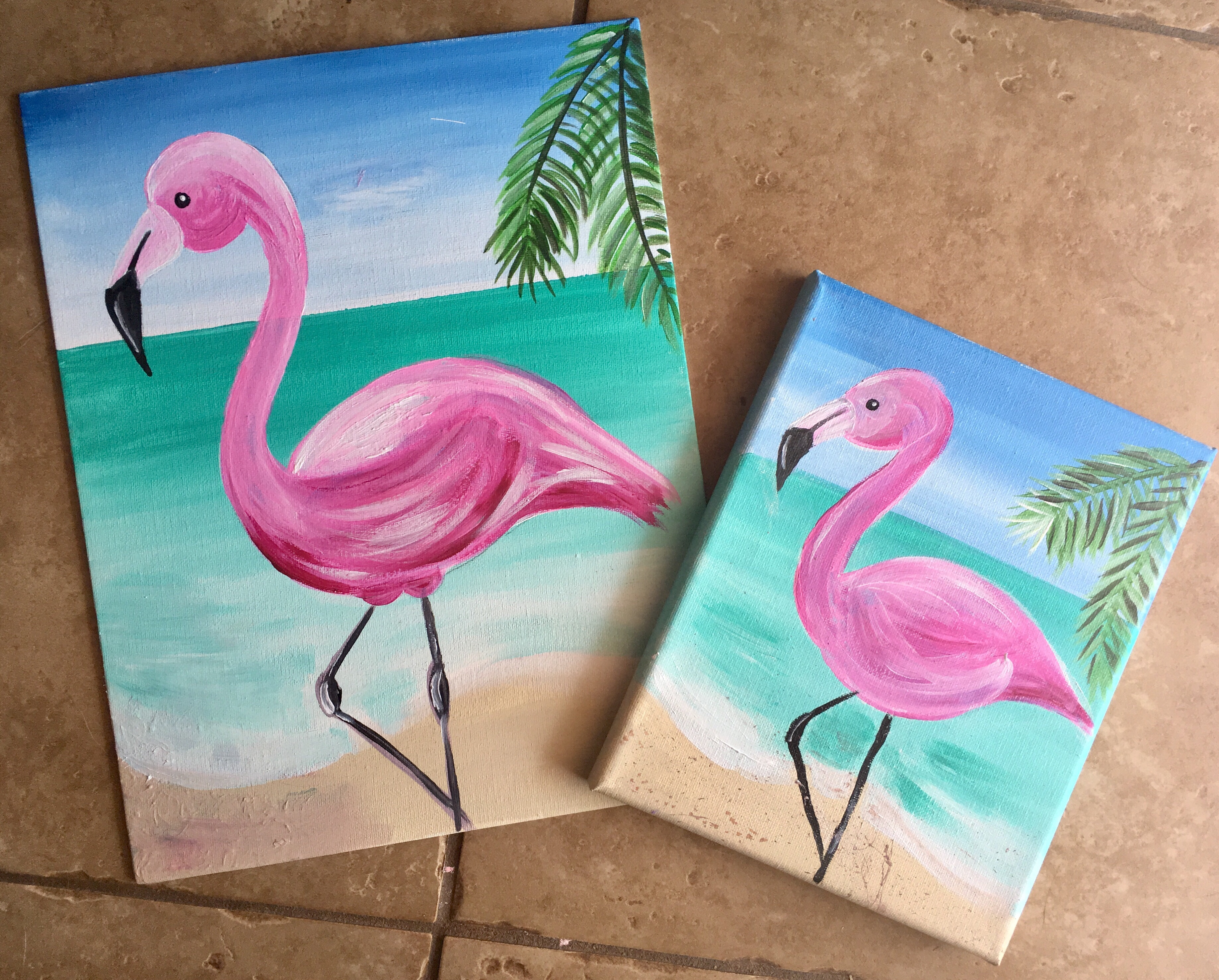 How To Paint A Flamingo - Step By Step Painting - photo#15
