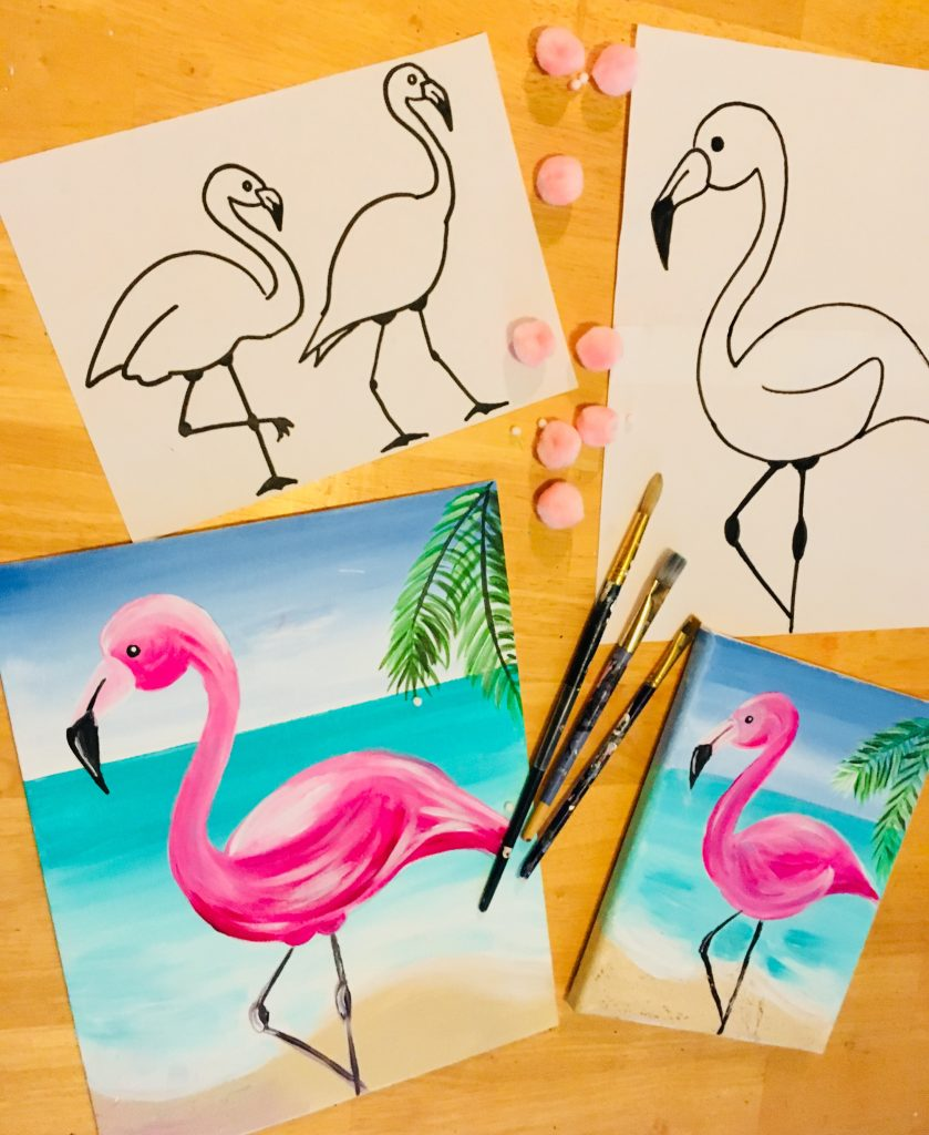 How To Paint A Flamingo Step By Step Painting