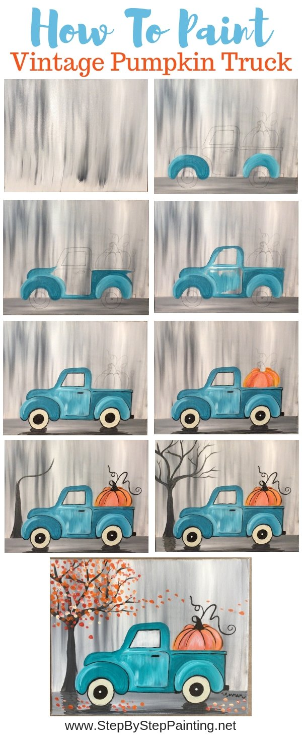 #stepbysteppainting how to paint a vintage truck