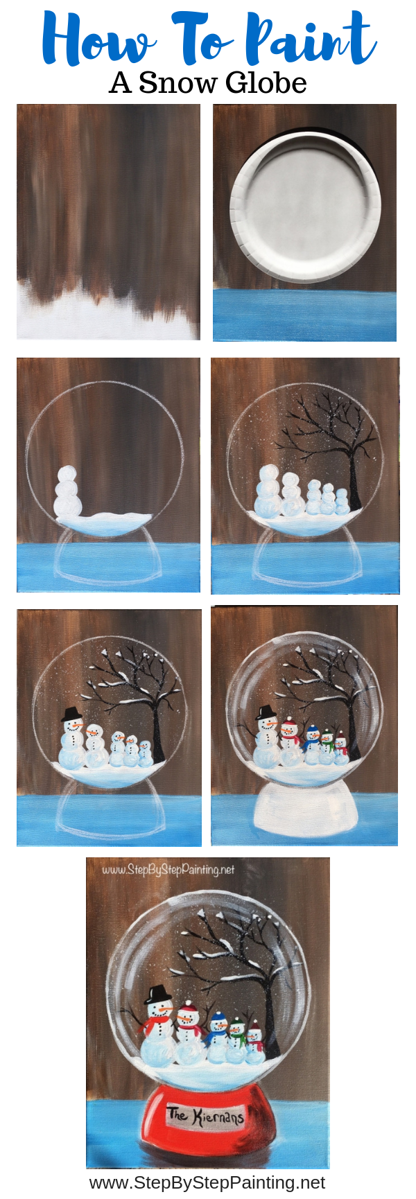 How To Paint A Snow Globe Step By Step Painting
